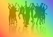 Dance crowd Royalty Free Stock Photos