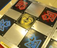 Dance Dance Revolution pad closeup Stock Photography
