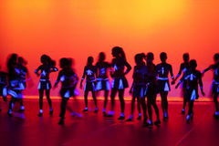 Dance Dancing Stage Background. A stage scene during a modern dance concert Royalty Free Stock Photography