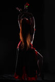 Dance in the darkness Royalty Free Stock Photo