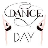 Dance day. Poster with ballerinas. Royalty Free Stock Photography