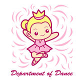 Dance department Mascot. Education and life Character Design ser Royalty Free Stock Image