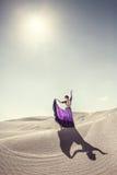 Dance in the desert Stock Images