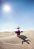 Dance in the desert Royalty Free Stock Photography