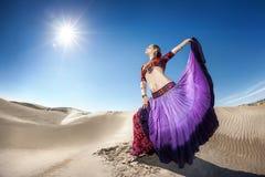 Dance in the desert Royalty Free Stock Photos