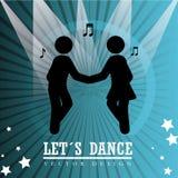 Dance design over blue background vector illustration Stock Images