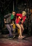 Dance duet Stock Photography