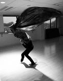 A dance of fabric. Royalty Free Stock Photos