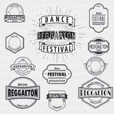Dance Festival insignia  and labels for any use. Dance Festival reggaeton badges insignia  and labels for any use Stock Photo