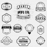 Dance Festival insignia  and labels for any use. Dance Festival salsa badges insignia  and labels for any use Stock Image