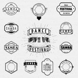 Dance Festival insignia  and labels for any use. Dance Festival samba badges insignia  and labels for any use Stock Image