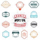 Dance Festival insignia  and labels for any use. Dance Festival samba badges insignia  and labels for any use Stock Photo