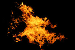 Dance of fire. The dance of fire at hot night Royalty Free Stock Photo