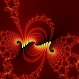 Dance of fire fractal background. Stock Photography