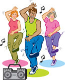 Dance Fitness Program Royalty Free Stock Photos