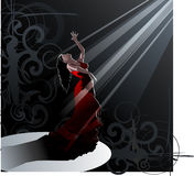 Dance - flamenco. Detailed vector illustration of a flamenco dancer in action Stock Image