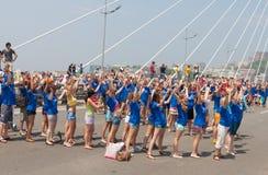 Dance Flash mob. Stock Photos