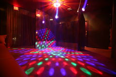 Dance floor. An empty dance floor in a night club Royalty Free Stock Images