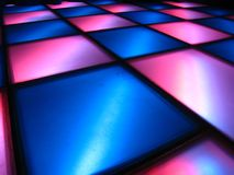 Dance Floor. Blue and Magenta tiled Dance floor Royalty Free Stock Photography