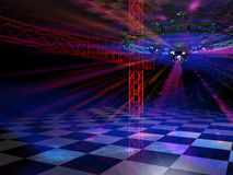 Dance floor side view Stock Photography
