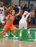 On the dance floor team USA basketball Stock Images