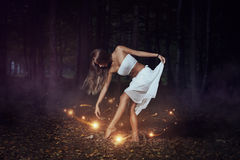 Dance with the forest spirits Royalty Free Stock Photos