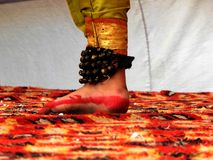Foot of an Indian Classical Dancer stock images