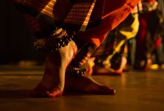 Dance form indian classical feet with ghungru Stock Images