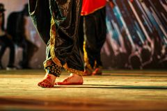 Dance form indian classical feet with ghungru stock image