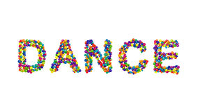 DANCE formed from colorful balls Stock Photo