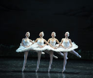 Dance of the four swans-The Swan Lakeside-ballet Swan Lake Stock Photography