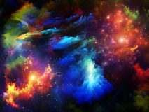 Dance of Fractal Paint Royalty Free Stock Photography