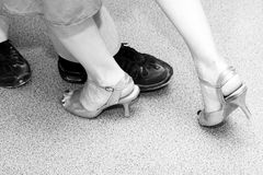 Dance. Fragment, legs of the rs Royalty Free Stock Photography