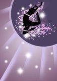 Dance girl background Stock Image