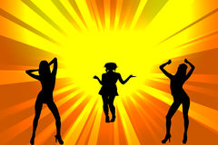 Dance Girls. Silhouette - abstract illustration Vector Illustration