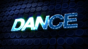 Dance Glitz Sparkle Text stock video footage
