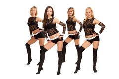 Dance group. Image of a dance group consisting of four girls Stock Image