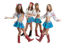Dance group. Image of the dance group wearing ukrainian national costumes Royalty Free Stock Images