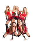 Dance group Royalty Free Stock Photos