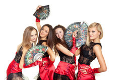 Dance group. Image of the dance group wearing stage costumes Stock Image