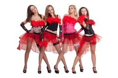 Dance group. Image of the dance group wearing stage costumes Stock Images