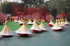 Dance group in beautiful costumes Royalty Free Stock Photography