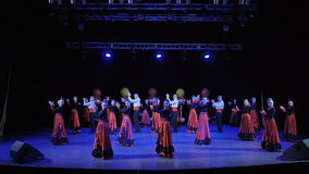 Dance group dance on stage stock footage