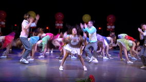 Dance group dance on stage stock video footage