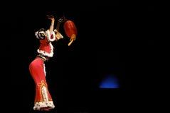 dance group lantern red 库存图片