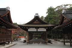 Dance hall of Kamigamo shrine in Kyoto Royalty Free Stock Images
