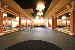 Dance hall with mirrors Stock Image