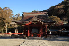 Dance hall of Tsurugaoka Hachimangu shrine Stock Photography