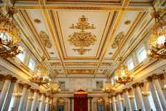 The dance hall  of Winter Palace Royalty Free Stock Photo
