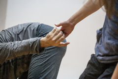 Dance hand. Two hand dance.The hands of the dancers are drawn to each other.dancers` hands support each other stock images